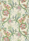 Thibaut Peacock Garden Wallpaper in Coral and Pink
